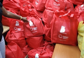 Image showing care packages for distribution by Women Inc. under the Spotlight Initiative in Jamaica