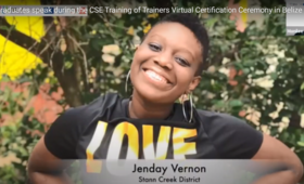 Image of a graduate of the Comprehensive Sexual Education Training of Trainers Virtual Certification Ceremony in Belize
