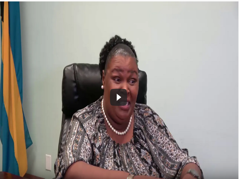 Humanitarian Aid-The Bahamas: : Dr. Higgs, Director of Gender Department on benefits of Dignity Kits